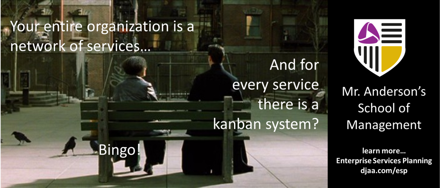 Managing in a Service-oriented Organization: For every service there should be a Kanban system